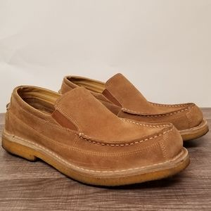 Men's LL Bean Suede Leather Slip Ons/Loafers